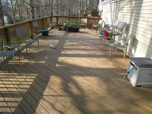 behr deck stain after two years