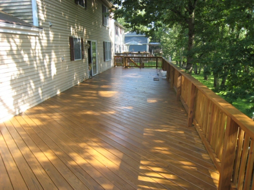 how to clean decking oil off brick