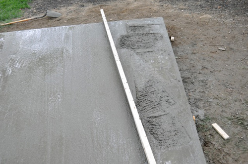 How To Pour A Concrete Shed Foundation One Project Closer - What to use to level concrete floor