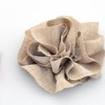DIY Ruffled Fabric Flowers