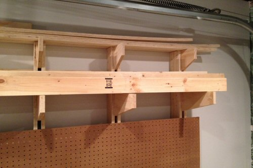 Share44 & How to Build a Wall-Mounted Lumber Storage Rack - One Project Closer
