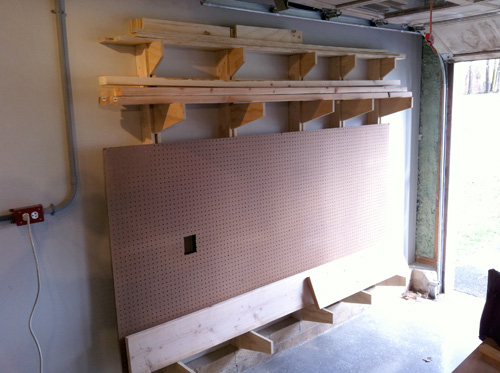 How to Build a Wall-Mounted Lumber Storage Rack - One ...