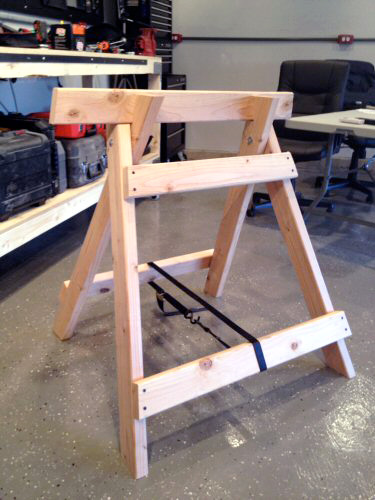 How To Build Angled Wooden Sawhorses One Project Closer