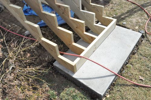 Pre Made Concrete Pads : How to build a deck with pics diagrams pro tips