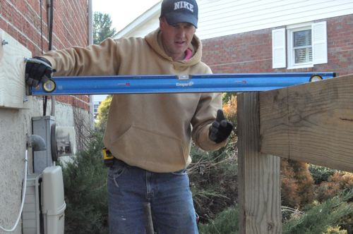how to build a freestanding deck step by step