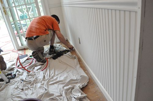 How To Install Beadboard Wainscoting One Project Closer