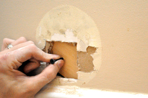 How To Repair A Medium Size Hole In Drywall One Project Closer