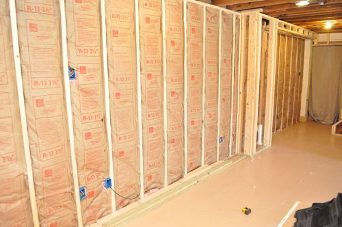 Finishing a Basement, Day 4: Insulation - One Project Closer