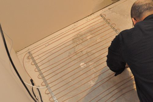 How To Install Electric Radiant Heat Under Bathroom Tile One