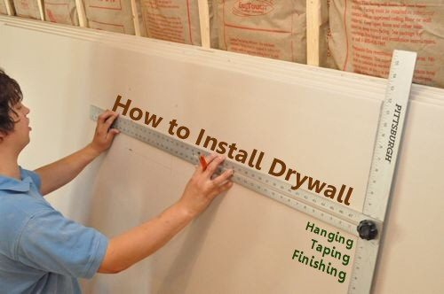 How to Hang Drywall & How to Install Drywall (with 75+ pics): Hanging Taping Finishing ...