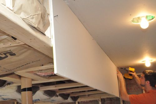 Step ... & How to Install Drywall (with 75+ pics): Hanging Taping Finishing ...