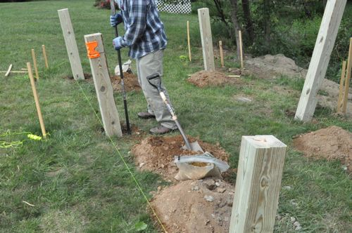 How to Build a Post & Beam Shed Foundation on a Slope - One