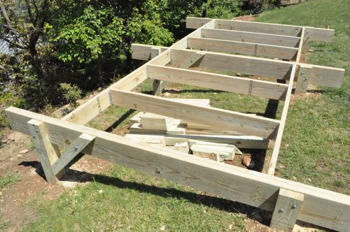 How to build a post beam shed foundation on a slope for How to build a sloped roof shed