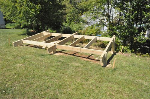 how to build a shed base on uneven ground