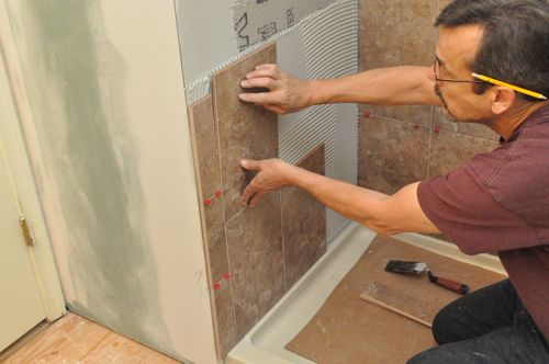 How To Tile A Bathroom Shower Walls Floor Materials