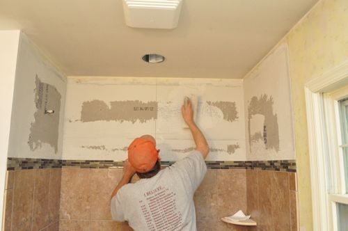 How to Tile a Bathroom, Shower Walls, Floor, Materials (100 pics ...