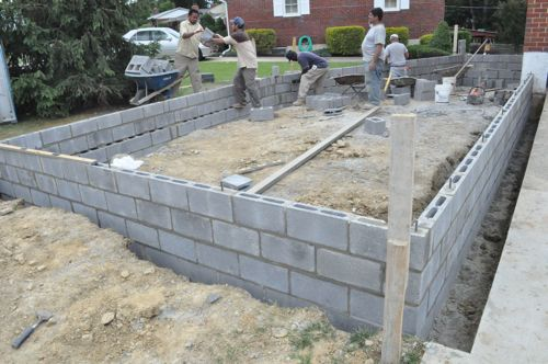 How to build a concrete block foundation one project closer for How to build a block foundation