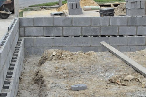 How to build a concrete block foundation one project closer for Block wall foundation
