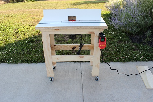 How to build a router table one project closer for How to make a router table stand