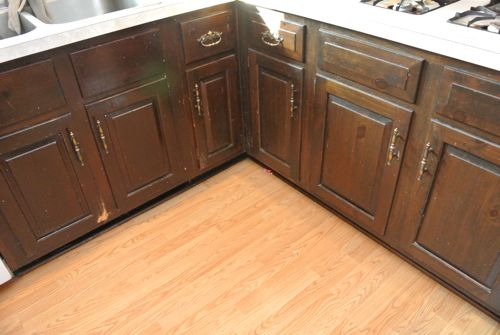 Kitchen makeover with rust oleum 39 s cabinet transformations for Birch kitchen cabinets review