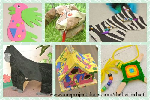 Crafting In The Rainforest At Vbs One Project Closer
