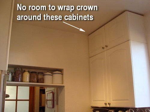 tempting cabinet cabinets height your on crown kitchen to building thyme adding the up molding