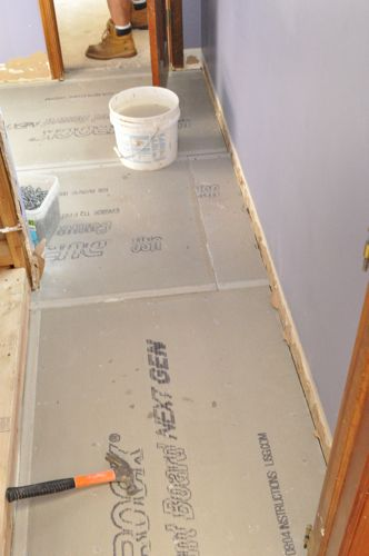 Tile Subfloor Deflection Thickness Common Substrates One - Install vinyl flooring over plywood subfloor