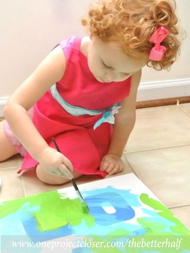 How To Paint A Canvas Using Painter S Tape And An X Acto