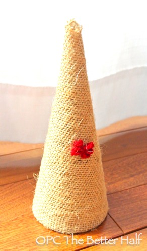 Burlap Tree with Yarn Mini Bow - OPC The Better Half