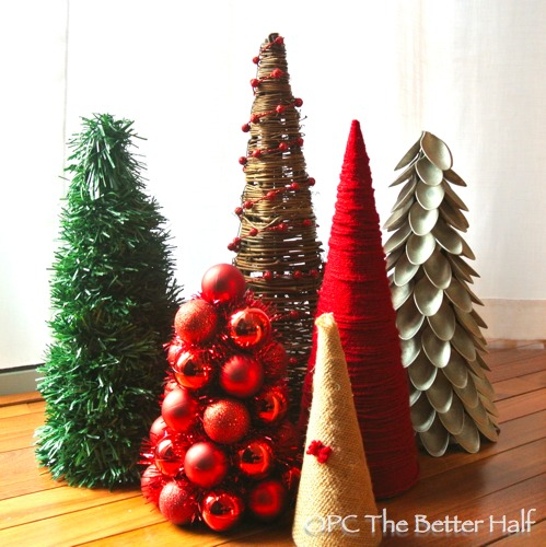 these trees would make for wonderful last minute and cheap christmas decor or table centerpieces - Cheap Christmas Centerpieces