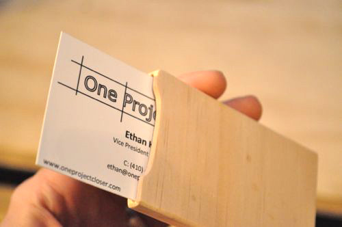 How To Make A Simple Wooden Business Card Case One Project