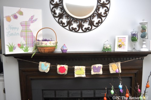 Easter/Spring Mantel - OPC The Better Half