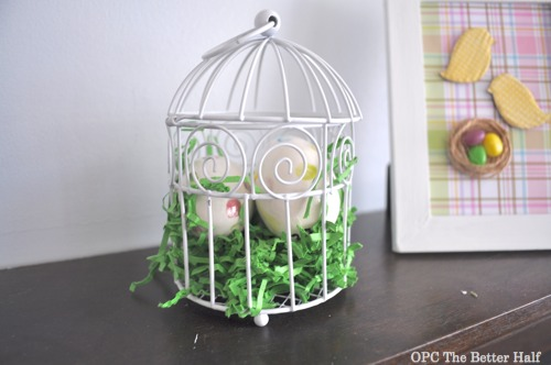 Birdcage with Ceramic Eggs - OPC The Better Half
