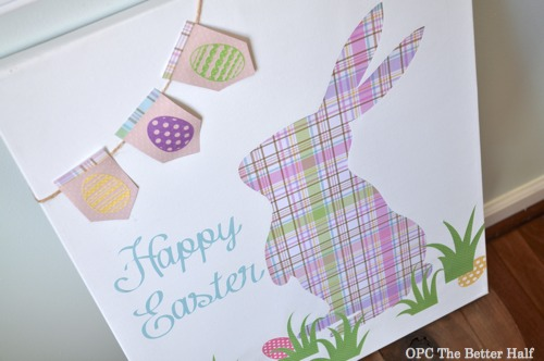 Silhouette Bunny Canvas - OPC The Better Half