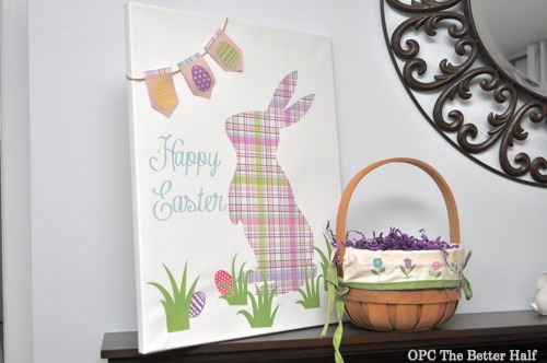 Silhouette Bunny Canvas - - OPC The Better Half
