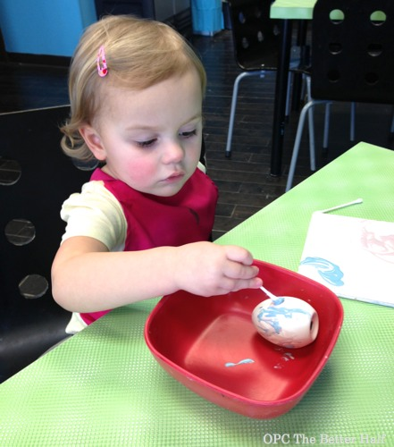 Lucy painting eggs - OPC The Better Half