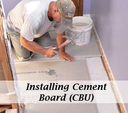 How to Install Cement Board (CBU) for Floor Tile - One Project Closer