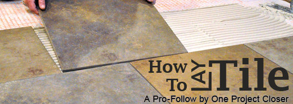 How to Level a Subfloor Before Laying Tile - One Project Closer