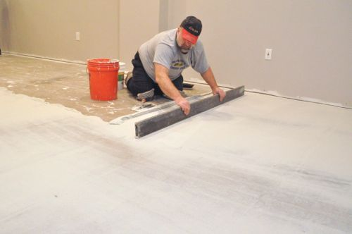 Exceptional Flattening The Floor In Preparation For Tile