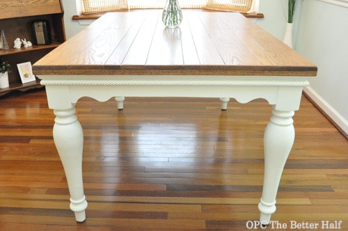 Diy Farmhouse Style Dining Table Opc The Better Half