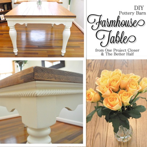 Pottery Barn Knock-Off Dining Table - OPC The Better Half