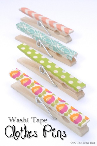 Washi Tape clothes pins - OPC The Better Half