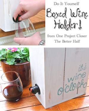 DIY Wine Box for Boxed Wine - OPC The Better Half