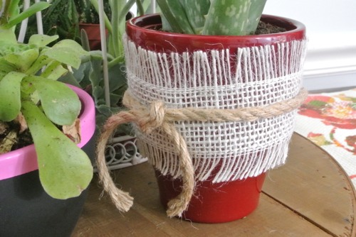 Burlap and Rope Planter - OPC The Better Half