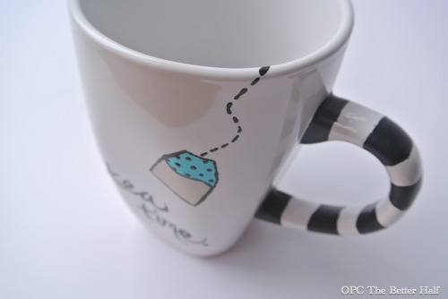 """Tea Time"" Painted Mug - OPC The Better Half"