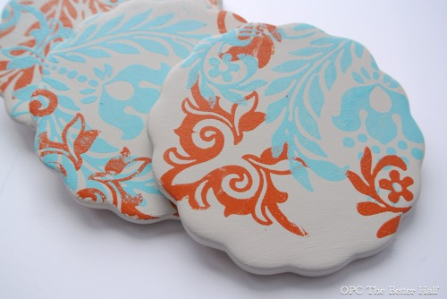 Painted Ceramic Coasters - OPC The Better Half