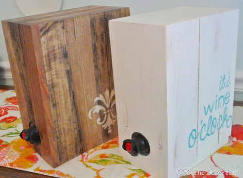 DIY Boxed Wine Holder / Wine Box - OPC The Better Half