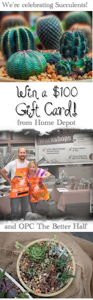 Win a $100 HomeDepot Gift Card from OPC The Better Half