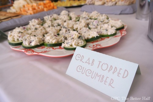 Crab topped Cucumber and other Vintage Biplane Baby Shower Ideas - OPC The Better Half