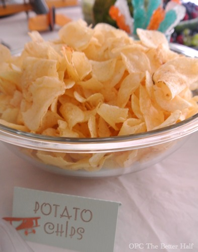 Potato Chips and Vintage Biplane Baby Shower Ideas - OPC The Better half